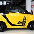 Автомобильные наклейки 2 шт цветы Красивые креативные наклейки для дверей Vinyls авто тюнинг Стайлинг 25 см 33 см 50 см D22