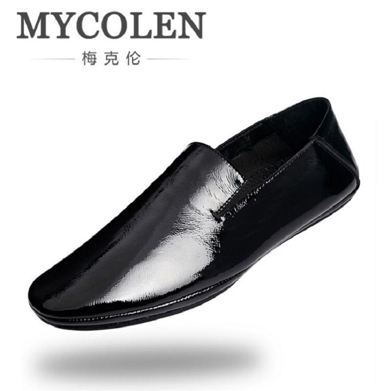 MYCOLEN Brand Fashion Soft Leather Breathable Men Shoes Slip-On Mocassins Men Loafers White Zapatillas Hombre Casual new fashion men luxury brand casual shoes men non slip breathable genuine leather casual shoes ankle boots zapatos hombre 3s88