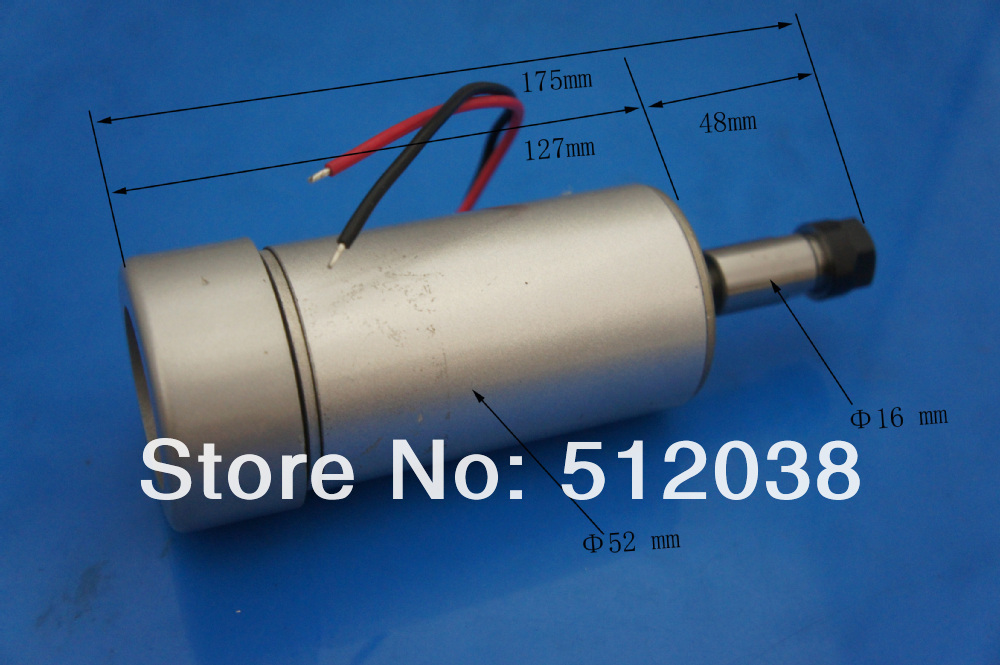 CNC 300W air cooled Spindle Motor (12-48V DC ER11 collect ) For Engraving Carving MILLING GRINDING Machine