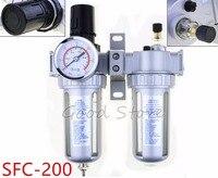 SFC200 Two Units Air Filter Regulator Lubricator Air Compressor Filter Regulator SFC 200 Air Preparation Units 1/4''
