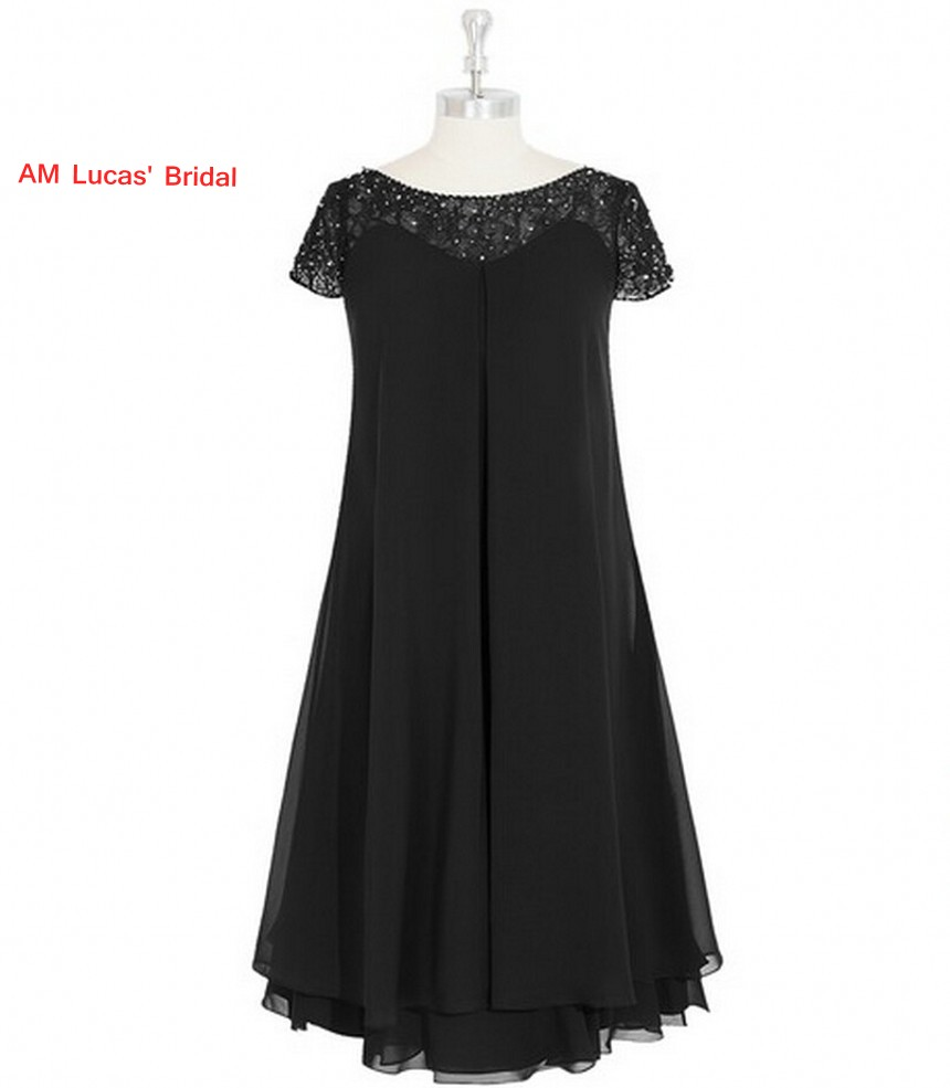 New A line   Cocktail     Dress   Chiffon Cap Sleeve Tea Length Prom Party Gowns Short   Dresses   Vestido De Festa Curto
