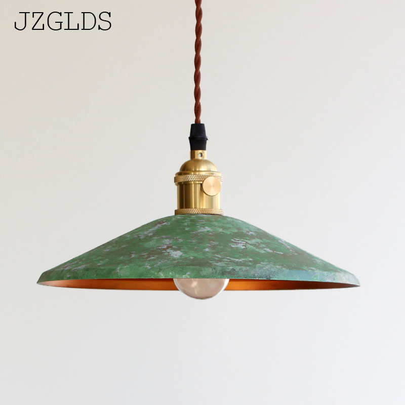 Loft american iron vintage small copper umbrella lamps pendant light single crystal glass pendant lightLoft american iron vintage small copper umbrella lamps pendant light single crystal glass pendant light