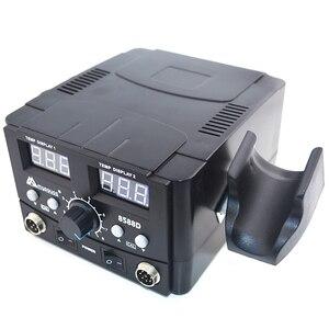 Image 4 - 800ワット2で1デジタルesdホットエアーガンはんだステーション溶接はんだ鉄220v smdはんだリワークステーション8586アップグレード
