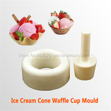 Ice Cream Waffle Cup Mould Food Tool Ice Cream Cone Cup Making Molde Helper