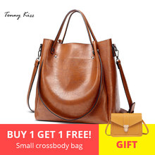 Tonny Kizz handbags for women 2018 leather shoulder bag high quality female bucket with long strap large capacity