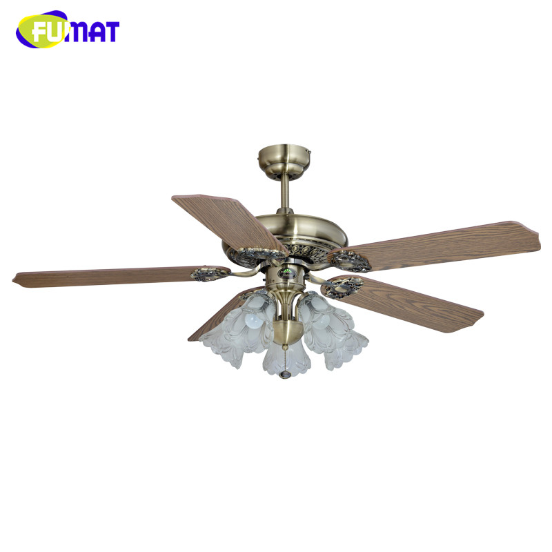 Fumat Ceiling Fans Lamp European Style Brief Living Room