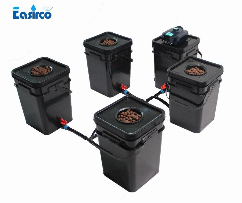 DWC 5x20L Cloner Square bucket for Hdroponics system