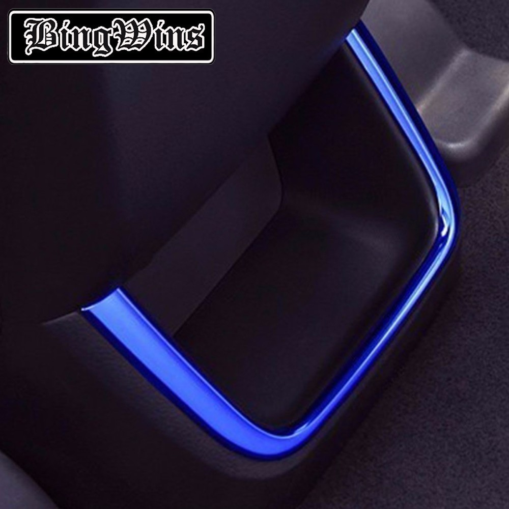 For Toyota Highlander 2015 car Styling stick stainless steel cover Car Rear air outlet Covers U design decorate car Accessories