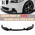 F10 V Stil Carbon Vorder Bumer Lip Spoiler für BMW F10 520i 528i 530i 535i 520d 525d 530d 535d m Tech M Sport 2010 2016 lip spoiler front spoilerfront lip spoiler -