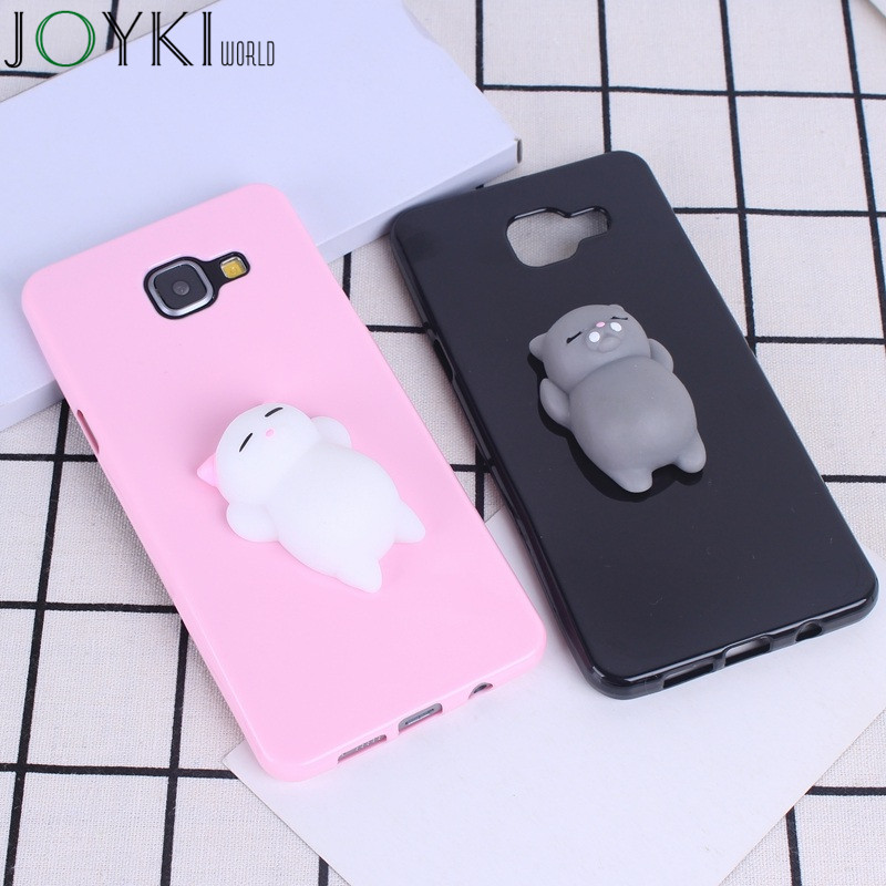 Squishy 3D Phone Case For Samsung Galaxy A5 2016 Cases Silicon Pressure Release For Samsung Galaxy A5 2016 J1 2017 Case Cover