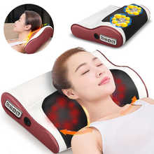 Multifunction Massage Pillow electric thermoelectric heat imitating human cervical vertebra neck massager improve sleep