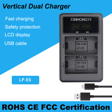 lp-e6 battery charger LED Dual Camera Charger For Canon EOS 5DS R 5D Mark II 5D Mark III 6D 7D 80D EOS 5DS R bateria цены онлайн
