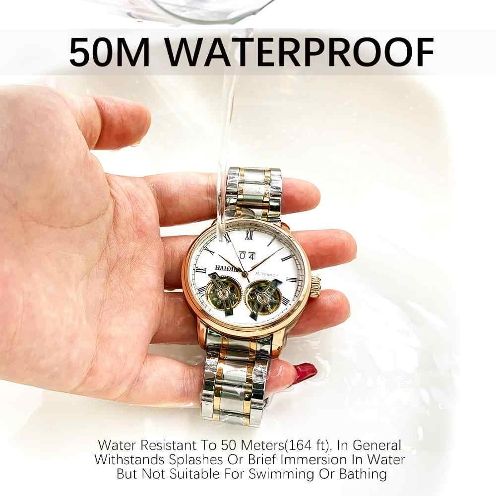HAIQIN мужские часы для мужчин s часы лучший бренд класса люкс автоматические механические Спортивные часы для мужчин wirstwatch Tourbillon Reloj hombres 2019