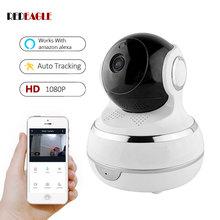 2.0MP Wireless WiFi telecamera IP 1080P telecamere di sicurezza domestiche monitoraggio automatico rilevazione movimento supporto Amazon Echo Google Home