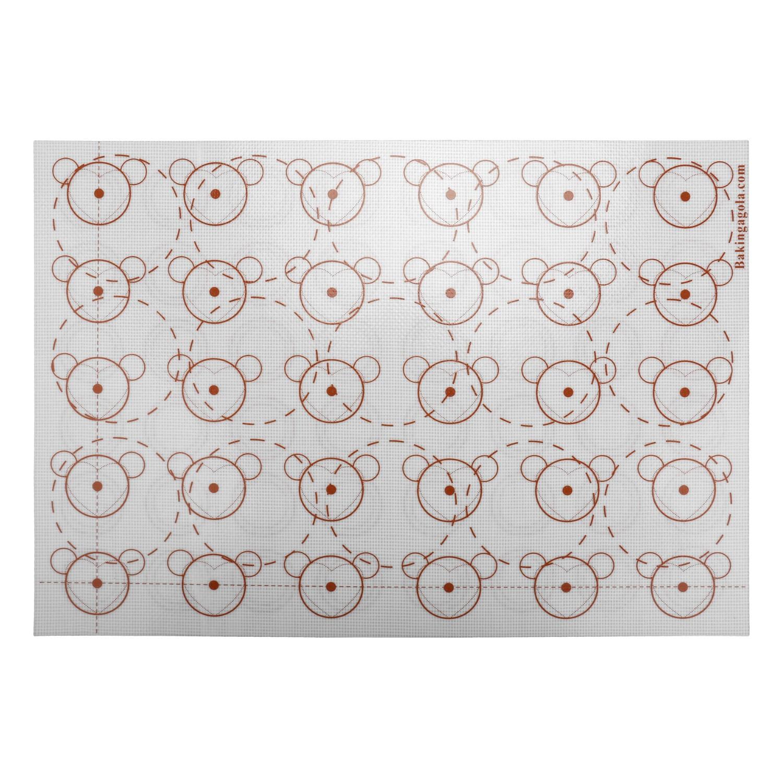1 STÜCKE 42 * 29,5 cm Fiberglas Teig Rollmatte Silikon Backformen Liner Pad Antihaft Silikon Backmatte Kuchen Kochen Werkzeuge TW-003
