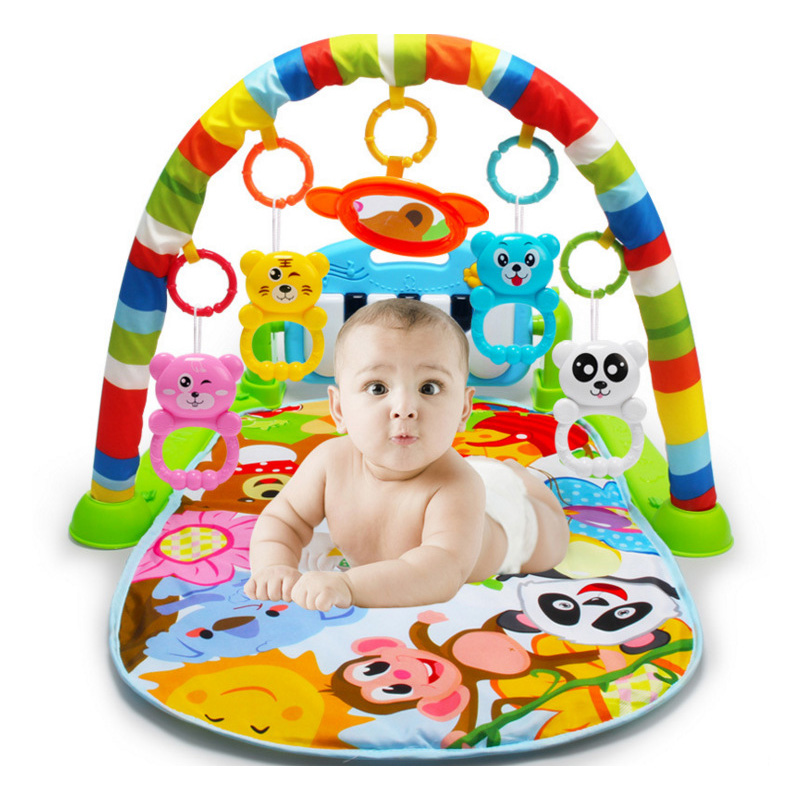 Keyboard Rattles-Toys Activity-Mat Fitness-Rack Playmat Baby Gym Kids Blanket with Cute