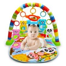 Дети Детям для фитнеса стойки ребенка ковер в детскую игрушка фортепиано музыкальное одеяло играть Пластик хорошо для Интеллектуальное визуальной развитие детские товары