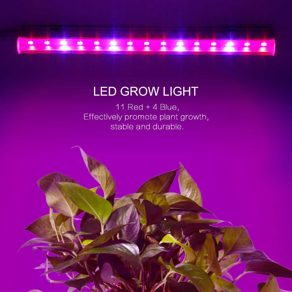 Higher Efficiency LED Plant Grow Light 660nm Red + 450nm Blue T5 Tube EU/US/AU plug switch wire  AC85-265V