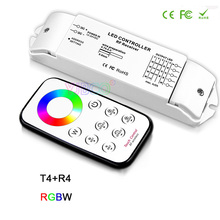 BC T1/T2/T3/T4/T5+R4 RF wireless remote dimming/CCT/RGB/RGBW/CW CCT led  Receiver controller for LED Strip Light,DC12V-24V