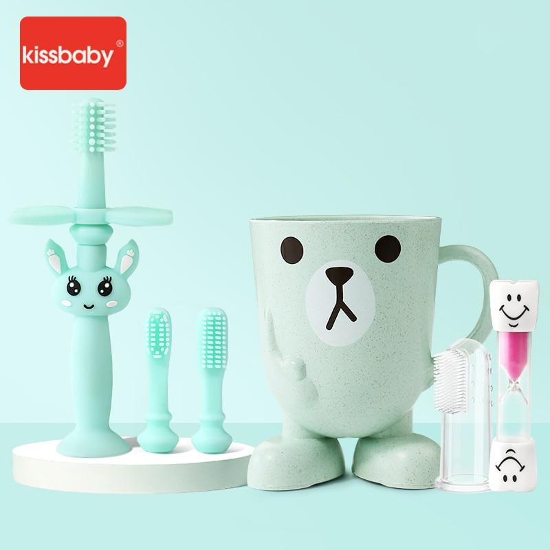 Begeistert Set Von 6 Kissbaby Silikon Baby Zahnbürste Artikel Kid Pinsel Zahnpasta Halter Finger Traning Zähne Reiniger Kauen Werkzeuge Zahlreich In Vielfalt