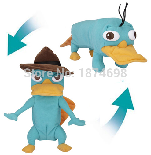 New Transforming Perry Plush Toy Reversible Agent P to Perry 25cm Platypus Stuffed Animals Kids Toys for Children Gifts