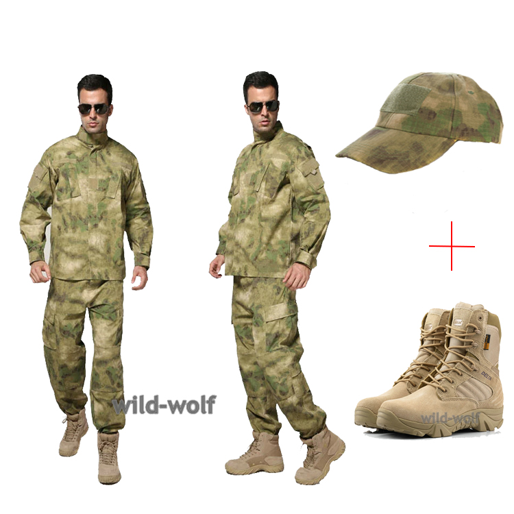 US Army Camouflage Tactical Military uniform set+Combat Outdoor Army Hiking  Travel Botas Shoes +Airsoft Tactical Cap on Aliexpress.com  0791f59edbb