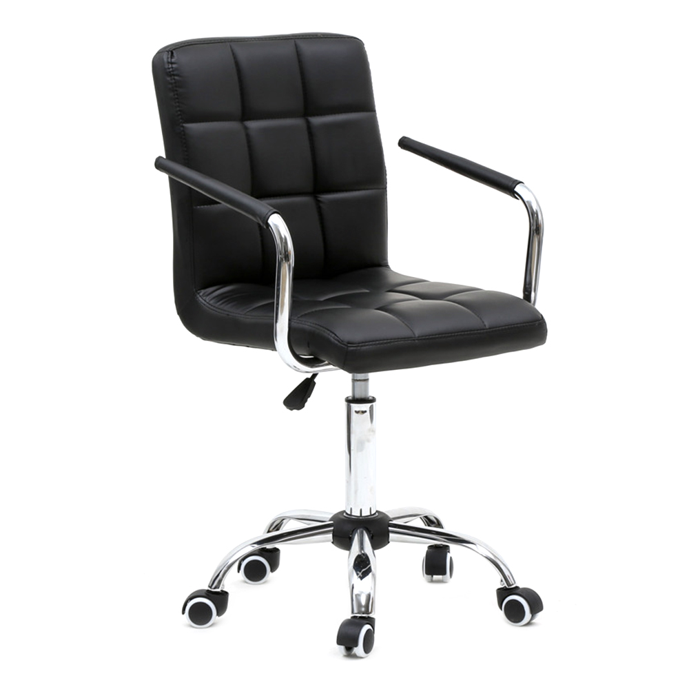 Office Chairs 360 Degree Rotation Middle Back Office Chair Black Us Free Shipping