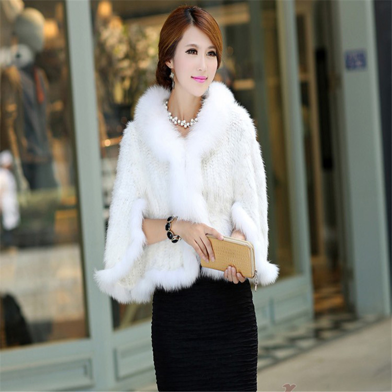 New 2016 Fashion High-grade Mink Fur Knitted Scarf Coat for Big Girls Baby Spring Autumn Winter Warm Natural Mink Fur Shawl Coat 2016 real mink fur knitted hats for winter autumn girls fur cap with fox fur pom pom top high quality female knitted beanies hat