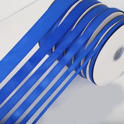 5 ярдов/рулон корсажные атласные ленты для свадьбы, украшения для рождественской вечеринки, самодельные ленты для поделок, открыток, подарочных упаковочных принадлежностей - Color: Blue