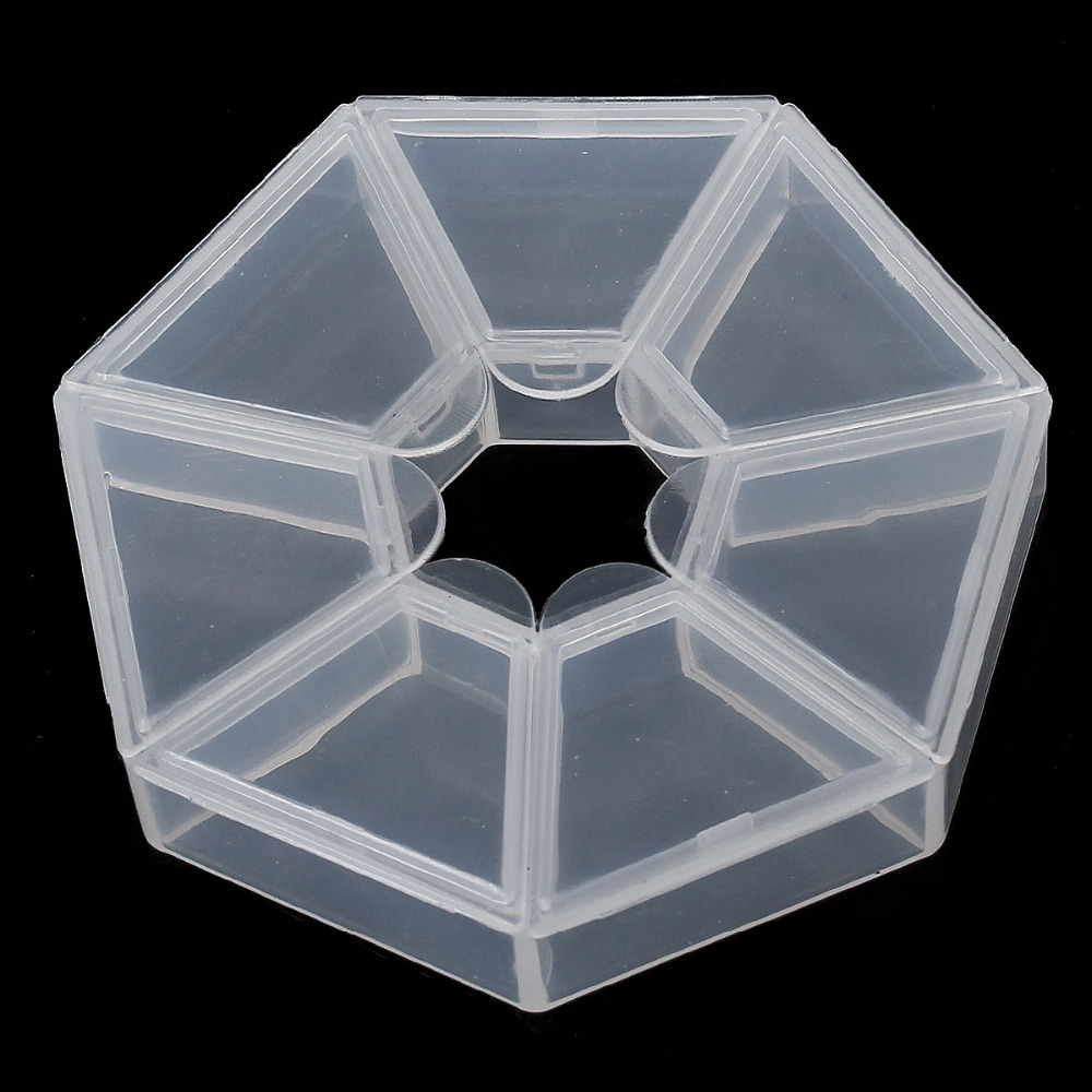 Doreen Box Hot-  2 Beads Storage Containers W/7 Compartments 9x9x2cm (B11991)