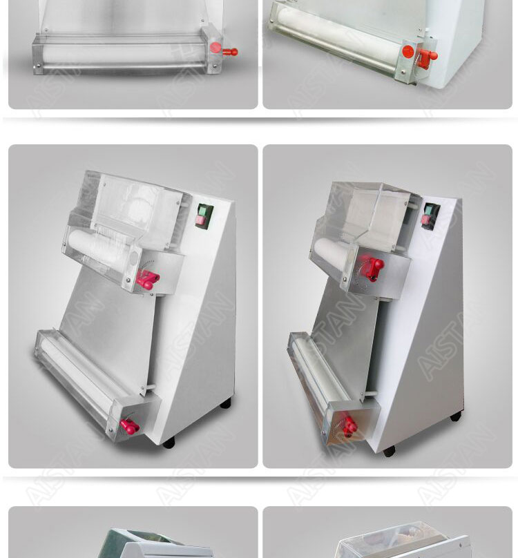 DR1V/DR1V-FP electric counter top stainless steel pizza dough roller machine pizza making machine dough sheeter 7
