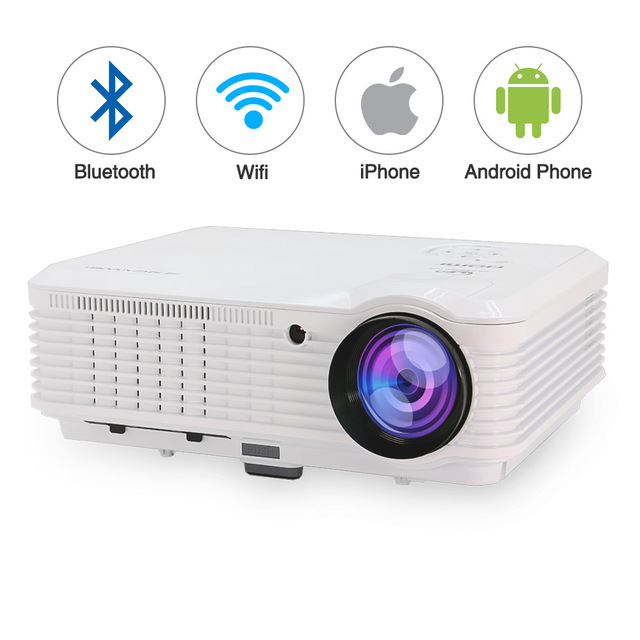 Smart LED LCD Projector Home Cinema 4500 Lumens Mobile Proyector Android WiFi Bluetooth Full HD Video For Smartphone TV Laptop