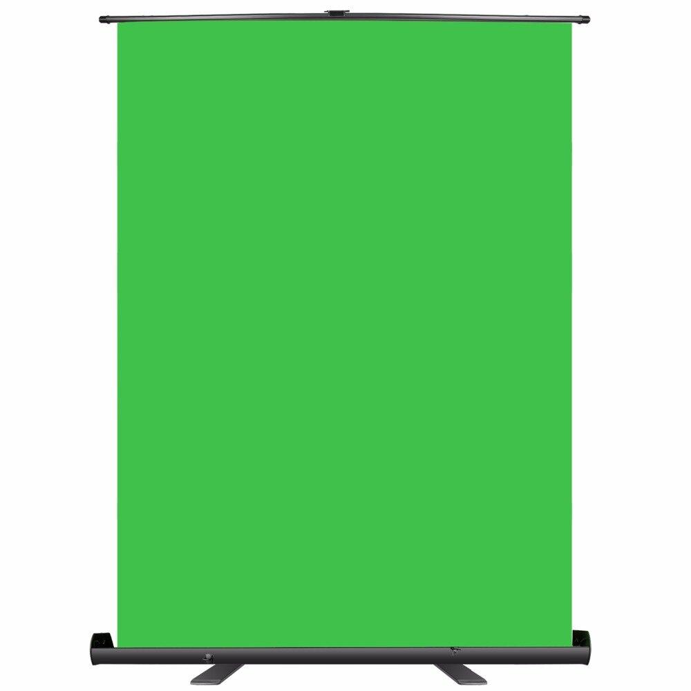 Neewer fond d'écran vert-panneau de fond Chromakey pliable avec cadre autobloquant, Chroma résistant aux rides-vert