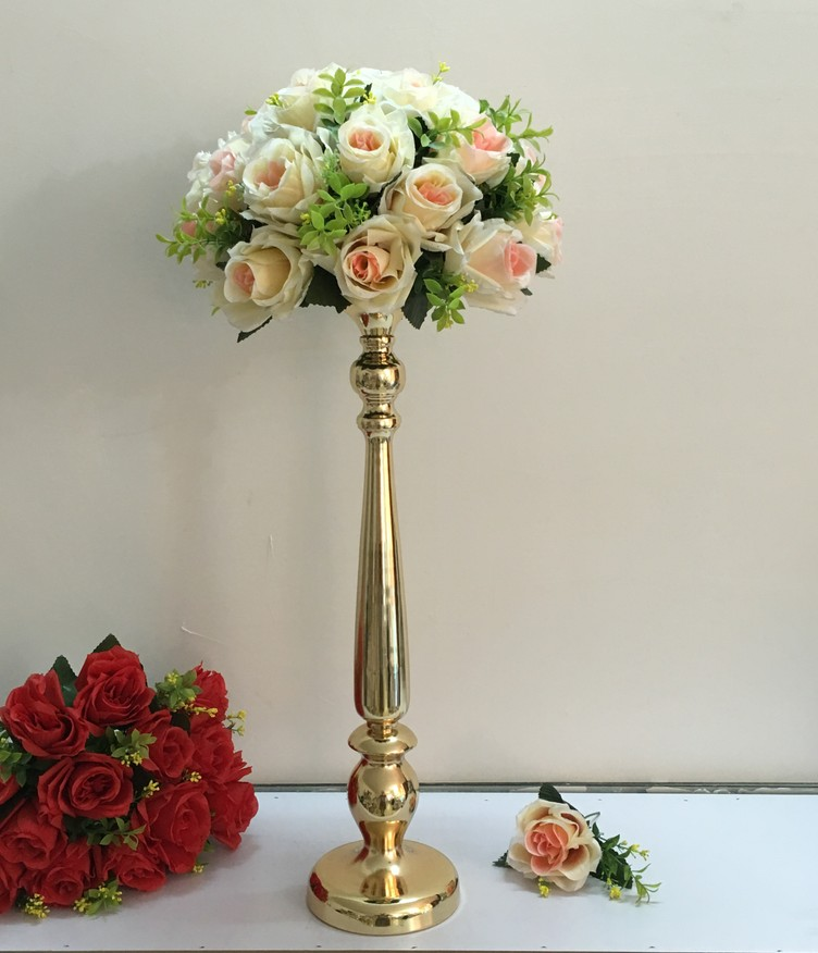 Candle Flower Centerpieces Wedding: 52cm Wedding Centerpieces Fake Flower Table Flowers Vase