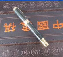 6.3 inch / Elaborate Interesting Chinese manual sculpture hetian jade gold can use pen