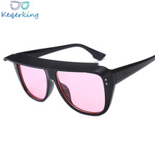 New Atmospheric Frame Sunglasses Male Female Cool Glasses Big Frame Covering Face Mirror Brand Designer Sunglasses ZA-126(China)