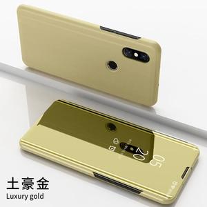 Image 2 - Étui à rabat intelligent pour Xiao mi 9 SE 6 étui de luxe pour mi mi x 3 2 Max 3 étui pour mi Note 3 A1 A2 5X 6X couvercle transparent