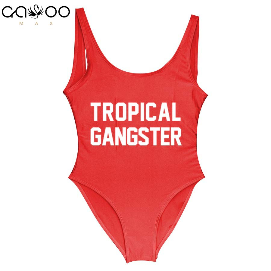 Tropical Gangste Sexy One Piece Swimsuit Brazilian Bikinis 2018 Backless Good Elastic Swimwear Women Swimsuits Of Large Sizes