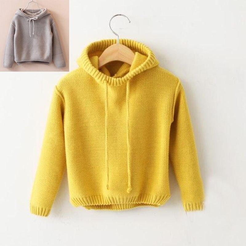 Малышей Свитера для девочек пальто с капюшоном для детей свитер для маленьких мальчиков Обувь для девочек осень и зима/весенняя одежда Детс...