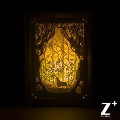hand made Paper Art Night lights children lamp 3D papercut ...