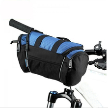 Bike Bicycle Cycling Bag Handlebar Front Tube Pannier Basket Shoulder Pack