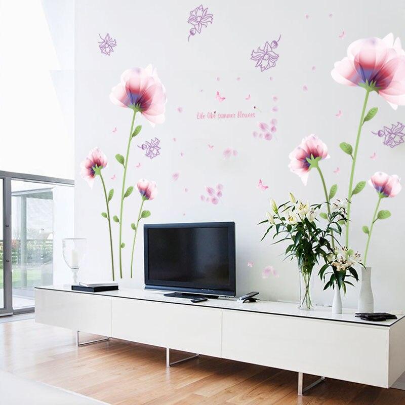 roze muurstickers-koop goedkope roze muurstickers loten van, Deco ideeën