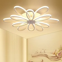 Modern LED chandelier ceiling Nordic lamps home deco lighting fixtures bedroom luminaires living room hanging lights modern led ceiling lights living room bedroom chrysanthemum lamps home decoration lighting e27 ceiling lamps ac120 240v