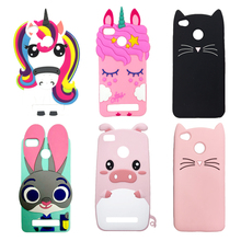Phone Case For Xiaomi Redmi 3S Cute Cartoon Soft Silicone Unicorn Cupcake Rabbit Back Cover 3 Pro S