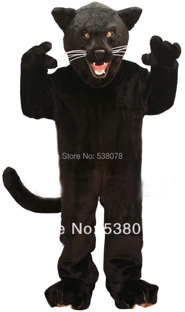 Costume nero della mascotte della pantera del jet Personaggio adulto di dimensione adulta-1219