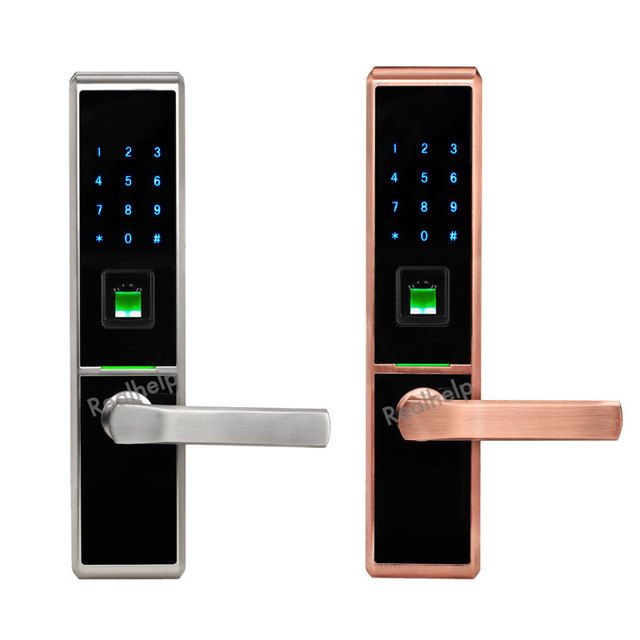 Voice Guide Keyless Entry System Anti Theft Fingerprint Lock With