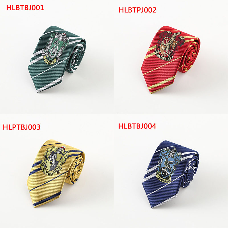 New Hogwarts Four College Style Tie Harri Potter Gryffindor Series Gift Children Cosplay Costume Accessory Necktie For Christmas