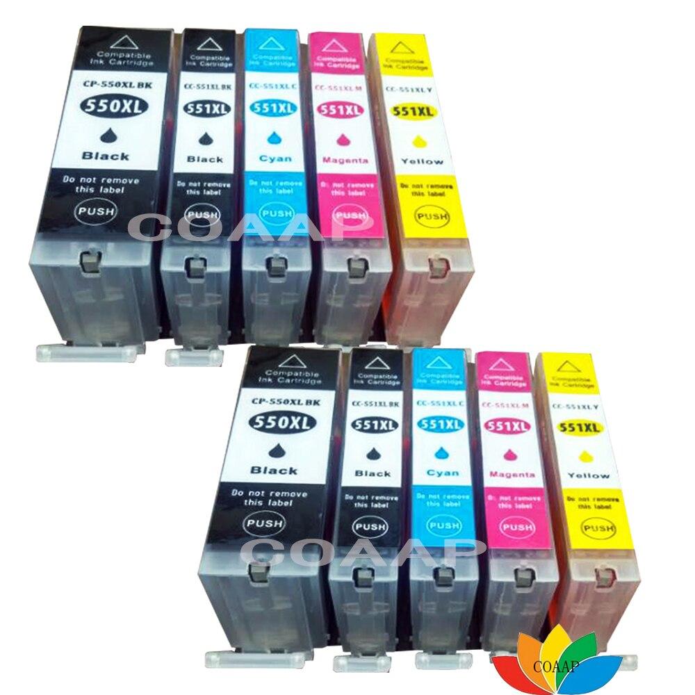 10 совместимых чернильных картриджей для canon, PIXMA, MG 5450, 5655, 6350, 6450, 6650, 7150, 7550,