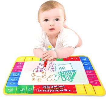 2018 New 29X19cm Children baby toy Water Drawing Painting Writing Mat Board & Magic Pen Doodle Toy Gift Learning Drawing Toy
