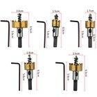 New 5 Pcs Carbide Tip HSS Drill Bit Saw Set Metal Wood Drilling Hole Cut Tool for Installing Locks 16/18.5/20/25/30mm